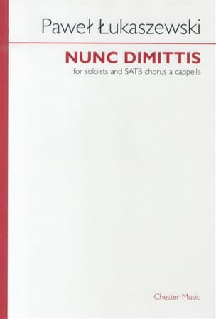 Nunc Dimittis Pawel Lukaszewski Partition Chœur - laflutedepan