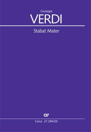 Stabat Mater - VERDI - Partition - Chœur - laflutedepan.com