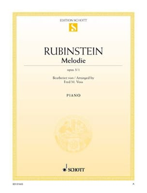Mélodie Fa Majeur Opus 3-1 Anton Rubinstein Partition laflutedepan