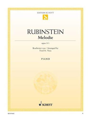 Mélodie Fa Majeur Opus 3-1 - Anton Rubinstein - laflutedepan.com