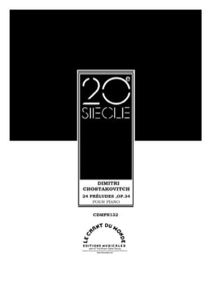 24 Préludes Opus 34 CHOSTAKOVITCH Partition Piano - laflutedepan