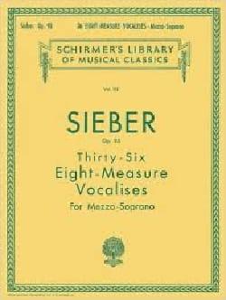 36 Vocalises De 8 Mesures. Op 96 Ferdinand Sieber laflutedepan