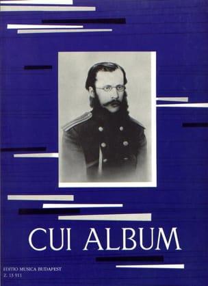 Album César Cui Partition Piano - laflutedepan