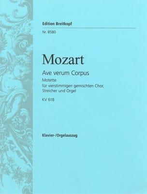 MOZART - Ave Verum Corpus K 618 - Partition - di-arezzo.fr