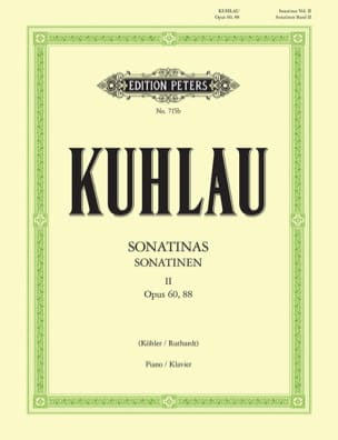 Friedrich Kuhlau - Sonatines Volume 2 Opus 60 and 88 - Partition - di-arezzo.co.uk
