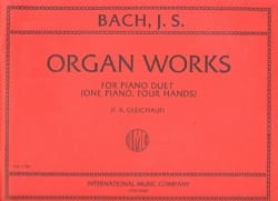 Organ Works For Piano Duet Volume 1. 4 mains BACH laflutedepan