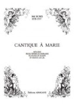 Cantique A Marie Op. 122 Mel Bonis Partition Mélodies - laflutedepan