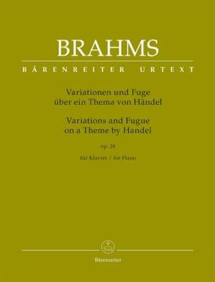Variations et fugue sur un thème de Haendel op. 24 BRAHMS laflutedepan