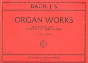 Organ Works For Piano Duet Volume 1. 4 mains - BACH - laflutedepan.com
