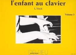 L' Enfant Au Clavier Volume 3 Lina Vinck Partition laflutedepan