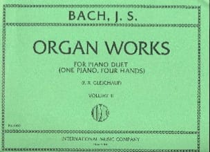 Organ Works For Piano Duet Volume 2 BACH Partition laflutedepan