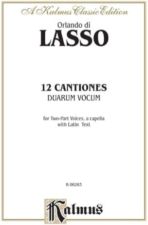 12 Canciones Duarum Vocum Orlando di Lassus Partition laflutedepan
