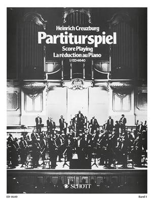Partiturspiel, Bd 1 Heinrich Creuzburg Partition Piano - laflutedepan