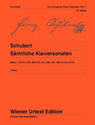 Sonates Pour Piano, Volume 1 SCHUBERT Partition Piano - laflutedepan