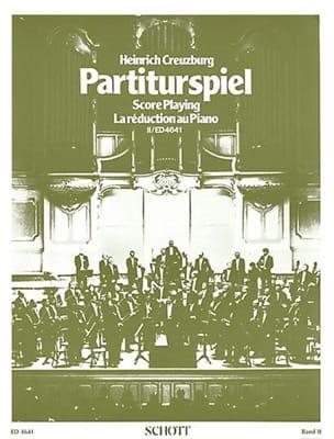Partiturspiel, Bd 2 Heinrich Creuzburg Partition Piano - laflutedepan