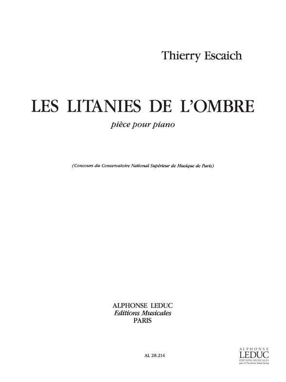 Litanies de L'ombre - Thierry Escaich - Partition - laflutedepan.com