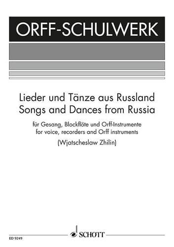 Lieder Und Tänze Aus Russland - Partition - laflutedepan.com