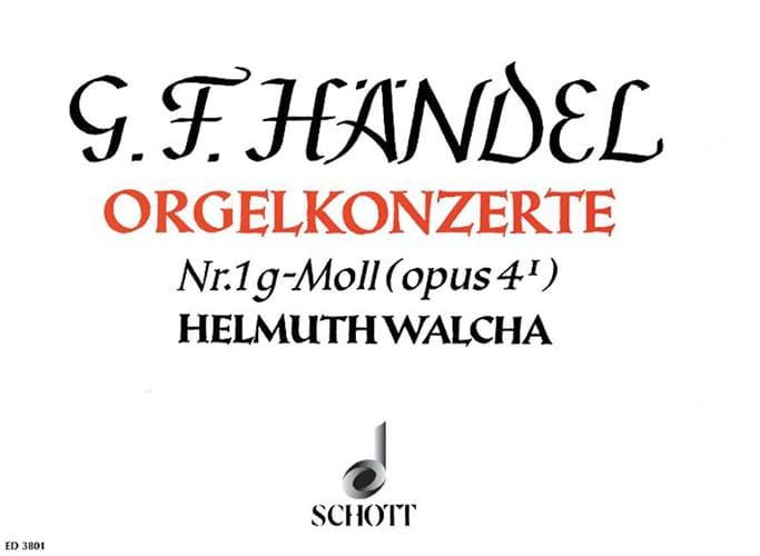 Concerto N° 1 G-Moll Op. 4-1 - HAENDEL - Partition - laflutedepan.com