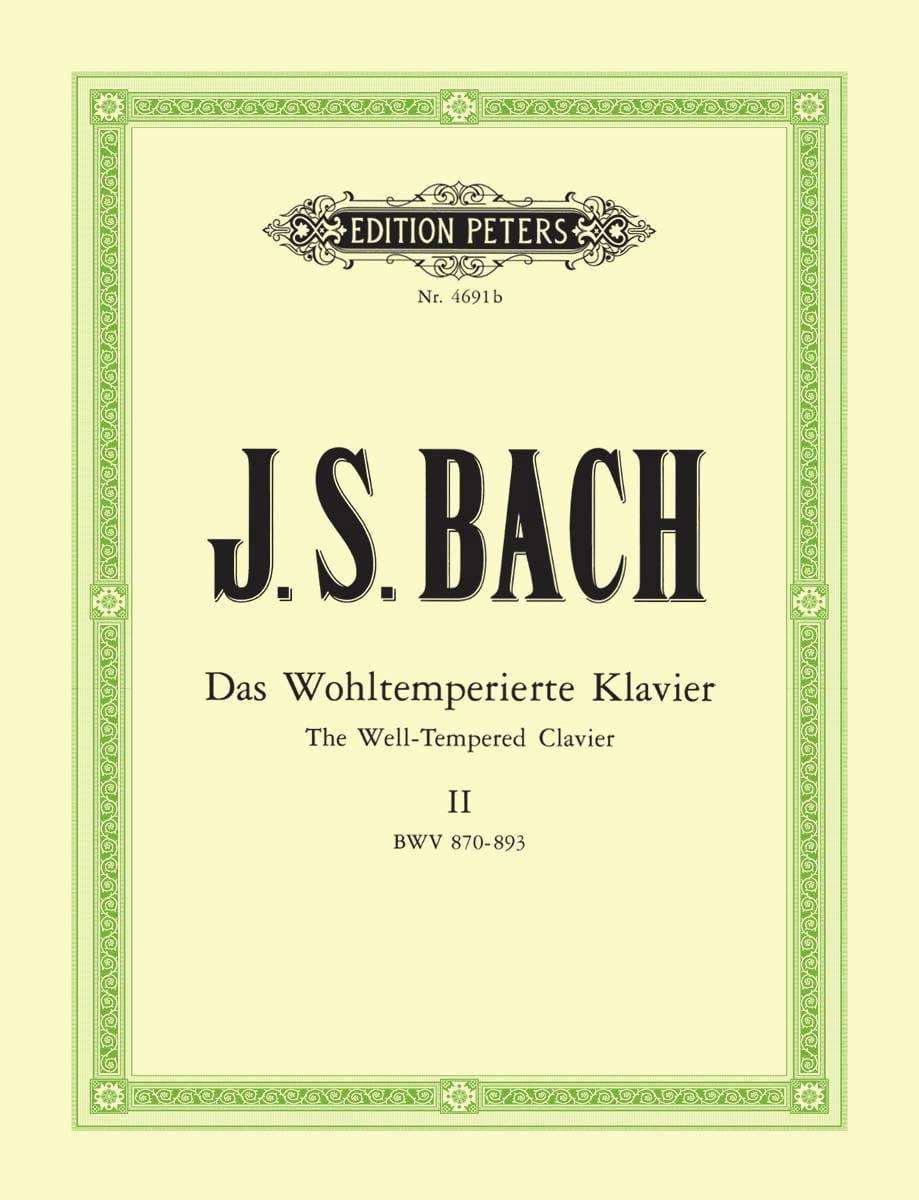 Le Clavier bien tempéré Volume 2 - BACH - Partition - laflutedepan.com