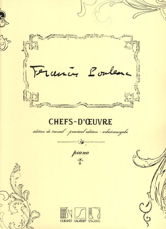 Chefs-D'oeuvre - POULENC - Partition - Piano - laflutedepan.com