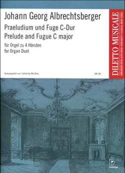 Prélude et Fugue. 4 Mains Johann Georg Albrechtsberger laflutedepan