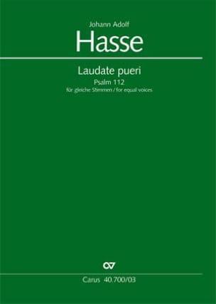 Laudate Pueri Johann Adolf Hasse Partition Chœur - laflutedepan