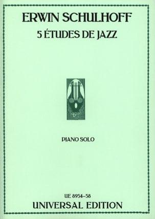 5 Etudes de Jazz Erwin Schulhoff Partition Piano - laflutedepan