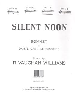 Silent Noon In F WILLIAMS VAUGHAN Partition Mélodies - laflutedepan