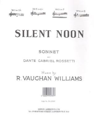Silent Noon In F - WILLIAMS VAUGHAN - Partition - laflutedepan.com