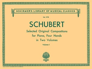 Oeuvres pour 4 Mains. Volume 1 SCHUBERT Partition Piano - laflutedepan