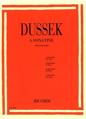 6 Sonatines Op. 20 Jan Ladislav Dussek Partition Piano - laflutedepan
