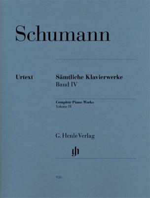 Oeuvre Complète Pour Piano - Volume 4 SCHUMANN Partition laflutedepan
