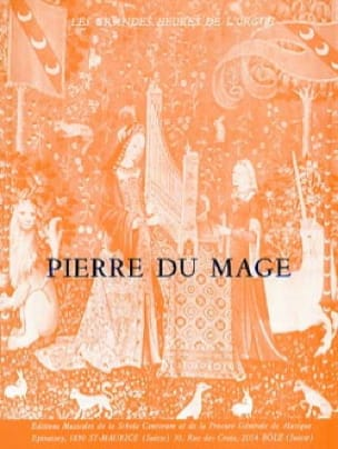 Livre D'orgue - Pierre du Mage - Partition - Orgue - laflutedepan.com