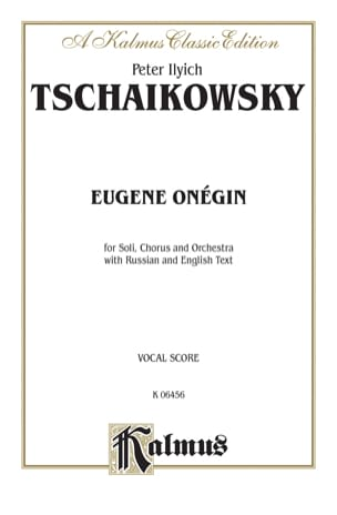Eugène Onéguine Opus 24 TCHAIKOVSKY Partition Opéras - laflutedepan