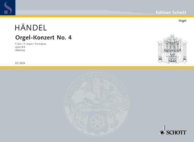 Concerto N° 4 Fa Majeur Opus 4-4 - HAENDEL - laflutedepan.com
