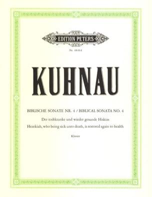 Biblische Sonate N° 4 Johann Kuhnau Partition Clavecin - laflutedepan