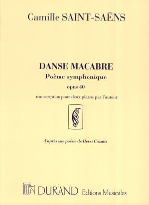Danse Macabre Opus 40. 2 Pianos SAINT-SAËNS Partition laflutedepan