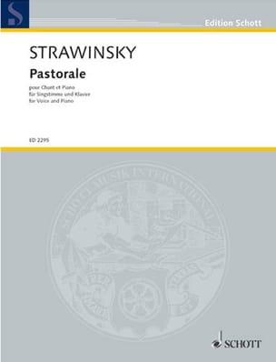 Pastorale STRAVINSKY Partition Pédagogie - laflutedepan