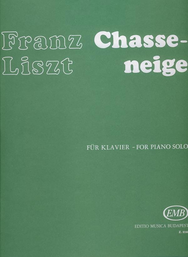 Chasse-Neige - LISZT - Partition - Piano - laflutedepan.com