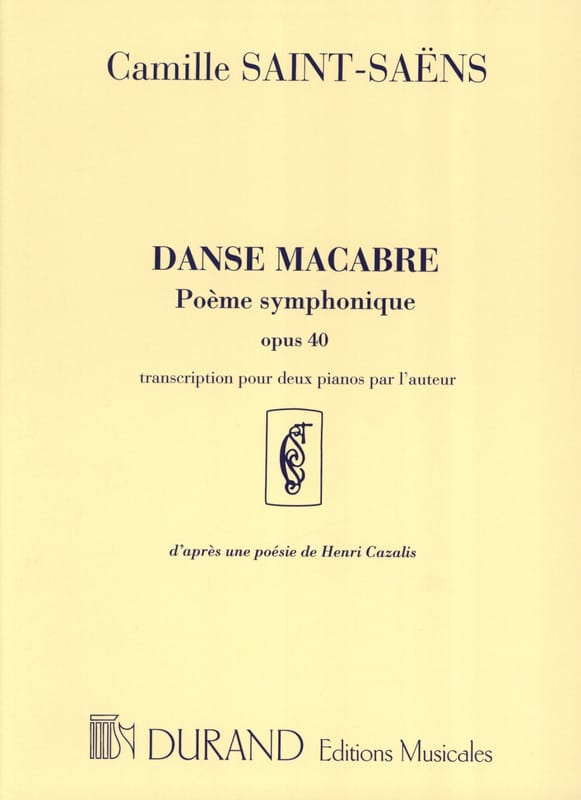 Danse Macabre Opus 40. 2 Pianos - SAINT-SAËNS - laflutedepan.com