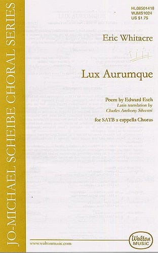 Lux Aurumque - Eric Whitacre - Partition - Chœur - laflutedepan.com