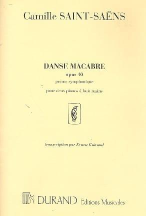 Danse Macabre Opus 40. 2 Pianos 8 Mains - laflutedepan.com