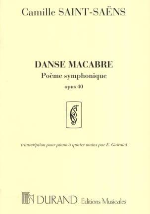 Danse Macabre Opus 40. 4 Mains SAINT-SAËNS Partition laflutedepan