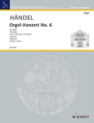 Concerto N°6 En Si Bémol Majeur Op. 4-6. - HAENDEL - laflutedepan.com