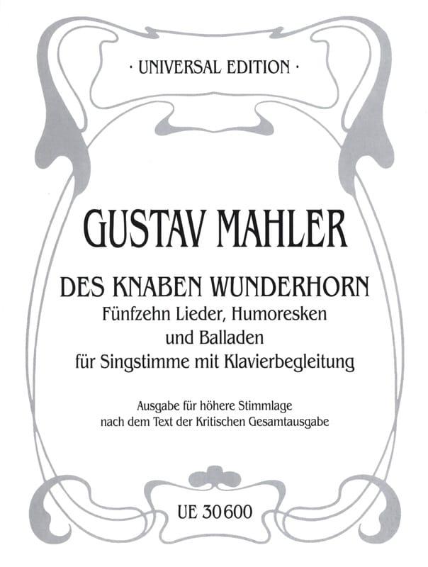 Des Knaben Wunderhorn. Voix Haute - MAHLER - laflutedepan.com