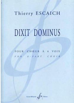 Dixit Dominus Thierry Escaich Partition Chœur - laflutedepan