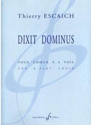 Dixit Dominus - Thierry Escaich - Partition - Chœur - laflutedepan.com