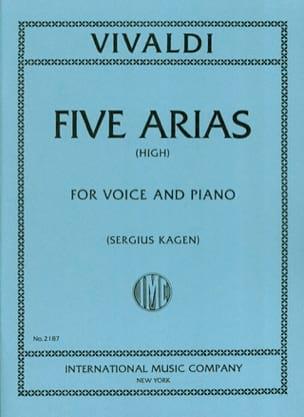 5 Arias. Voix Haute VIVALDI Partition Mélodies - laflutedepan