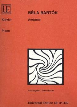 Andante BARTOK Partition Piano - laflutedepan