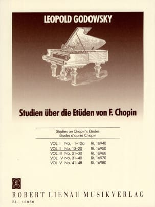 Etudes D'après Chopin Volume 2 GODOWSKY Partition Piano - laflutedepan